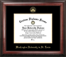Campus Images MO997GED Washington University in St. Louis Gold Embossed Diploma Frame