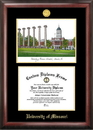 Campus Images MO999LGED University of Missouri Gold embossed diploma frame with Campus Images lithograph
