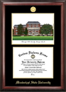 Campus Images MS997LGED Mississippi State Gold embossed diploma frame with Campus Images lithograph