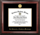 Campus Images MS998GED Southern Mississippi Gold Embossed Diploma Frame