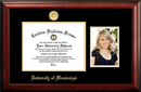Campus Images MS999PGED-129 University of Mississippi 12w x 9h Gold Embossed Diploma Frame with 5 x7 Portrait