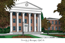 Campus Images MS999 University of Mississippi Campus Images Lithograph Print