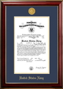 Campus Images NACCL001 Patriot Frames Navy 10x14 Certificate Classic Mahogany Frame with Gold Medallion