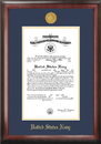Campus Images NACG001 Navy Commission Frame Gold Medallion