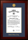 Campus Images NACHO001 Patriot Frames Navy 10x14 Certificate Honors Frame with Gold Medallion