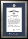 Campus Images NACHO002 Patriot Frames Navy 10x14 Certificate Honors Frame with Silver Medallion
