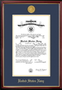 Campus Images NACPT001 Patriot Frames Navy 10x14 Certificate Petite Frame with Gold Medallion