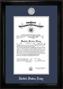 Campus Images NACS002 Navy Commission Frame Silver Medallion