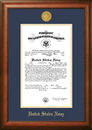 Campus Images NACSW002 Patriot Frames Navy 10x14 Certificate Walnut Frame Gold  Medallion