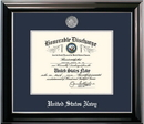 Campus Images NADCL002 Patriot Frames Navy 8.5x11 Discharge Classic Black Frame with Silver Medallion