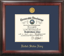 Campus Images NADG001 Navy Discharge Frame Gold Medallion