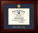 Campus Images NADHO001 Patriot Frames Navy 8.5x11 Discharge Honors Frame with Gold Medallion