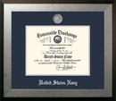 Campus Images NADHO002 Patriot Frames Navy 8.5x11 Discharge Honors Frame with Silver Medallion
