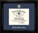Campus Images NADS002 Navy Discharge Frame Silver Medallion