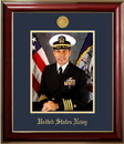 Campus Images NAPCL001 Patriot Frames Navy 8x10 Portrait Classic Frame with Gold Medallion