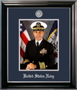 Campus Images NAPCL002 Patriot Frames Navy 8x10 Portrait Classic Black Frame with Silver Medallion