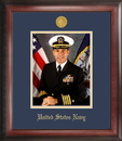 Campus Images NAPG001 Navy Portrait Frame Gold Medallion