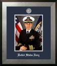Campus Images NAPHO002 Patriot Frames Navy 8x10 Portrait Honors Frame with Silver Medallion