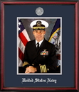 Campus Images NAPPT002 Patriot Frames Navy 8x10 Portrait Petite Frame with Silver Medallion