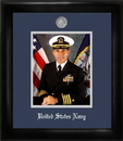 Campus Images NAPS002 Navy Portrait Frame Silver Medallion