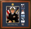 Campus Images NAPSW002 Patriot Frames Navy 8x10 Portrait Walnut Frame Gold Medallion