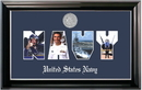 Campus Images NASSCL002S Patriot Frames Navy Collage Photo Classic Black Frame with Silver Medallion