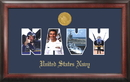 Campus Images NASSG001 Navy Collage Photo Frame Gold Medallion