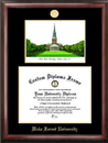 Campus Images NC991LGED Wake Forest University Gold embossed diploma frame with Campus Images lithograph