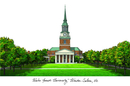 Campus Images NC991 Wake Forest University Campus Images Lithograph Print