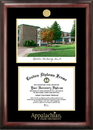 Campus Images NC998LGED Appalachian State University Gold embossed diploma frame with Campus Images lithograph
