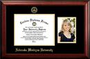 Campus Images NE998PGED-1185 Nebraska Wesleyan University 11w x 8.5h Gold Embossed Diploma Frame with 5 x7 Portrait