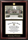 Campus Images NE999LGED University of Nebraska Gold embossed diploma frame with Campus Images lithograph