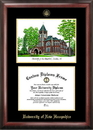 Campus Images NH998LGED University of New Hampshire Gold embossed diploma frame with Campus Images lithograph