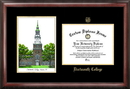 Campus Images NH999LGED Dartmouth College Gold embossed diploma frame with Campus Images lithograph