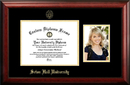 Campus Images NJ997PGED-1185 Seton Hall 11w x 8.5h Gold Embossed Diploma Frame with 5 x7 Portrait
