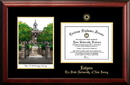 Campus Images NJ999LGED Rutgers Gold embossed diploma frame with Campus Images lithograph