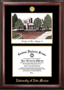 Campus Images NM999LGED University of New Mexico Gold embossed diploma frame with Campus Images lithograph