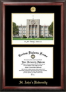 Campus Images NY998LGED St. John's University Gold embossed diploma frame with Campus Images lithograph