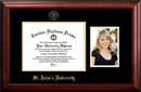 Campus Images NY998PGED-1185 St. John's University 11w x 8.5h Gold Embossed Diploma Frame with 5 x7 Portrait