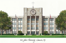 Campus Images NY998  St. John's University Campus Images Lithograph Print