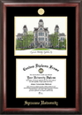 Campus Images NY999LGED Syracuse University Gold embossed diploma frame with Campus Images lithograph