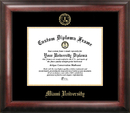 Campus Images OH982GED Miami University Ohio Gold Embossed Diploma Frame