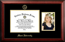 Campus Images OH982PGED-1185 Miami University Ohio 11w x 8.5h Gold Embossed Diploma Frame with 5 x7 Portrait
