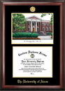 Campus Images OH983LGED University of Akron  Gold embossed diploma frame with Campus Images lithograph
