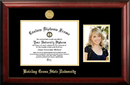 Campus Images OH986PGED-1185 Bowling Green State 11w x 8.5h Gold Embossed Diploma Frame with 5 x7 Portrait