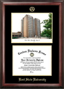 Campus Images OH989LGED Kent State University Gold embossed diploma frame with Campus Images lithograph