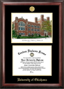 Campus Images OK998LGED University of Oklahoma Gold embossed diploma frame with Campus Images lithograph