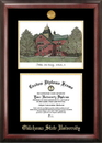 Campus Images OK999LGED Oklahoma State University Gold embossed diploma frame with Campus Images lithograph