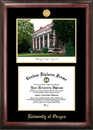 Campus Images OR997LGED University of Oregon Gold embossed diploma frame with Campus Images lithograph