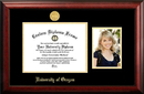 Campus Images OR997PGED-1185 University of Oregon 11w x 8.5h Gold Embossed Diploma Frame with 5 x7 Portrait